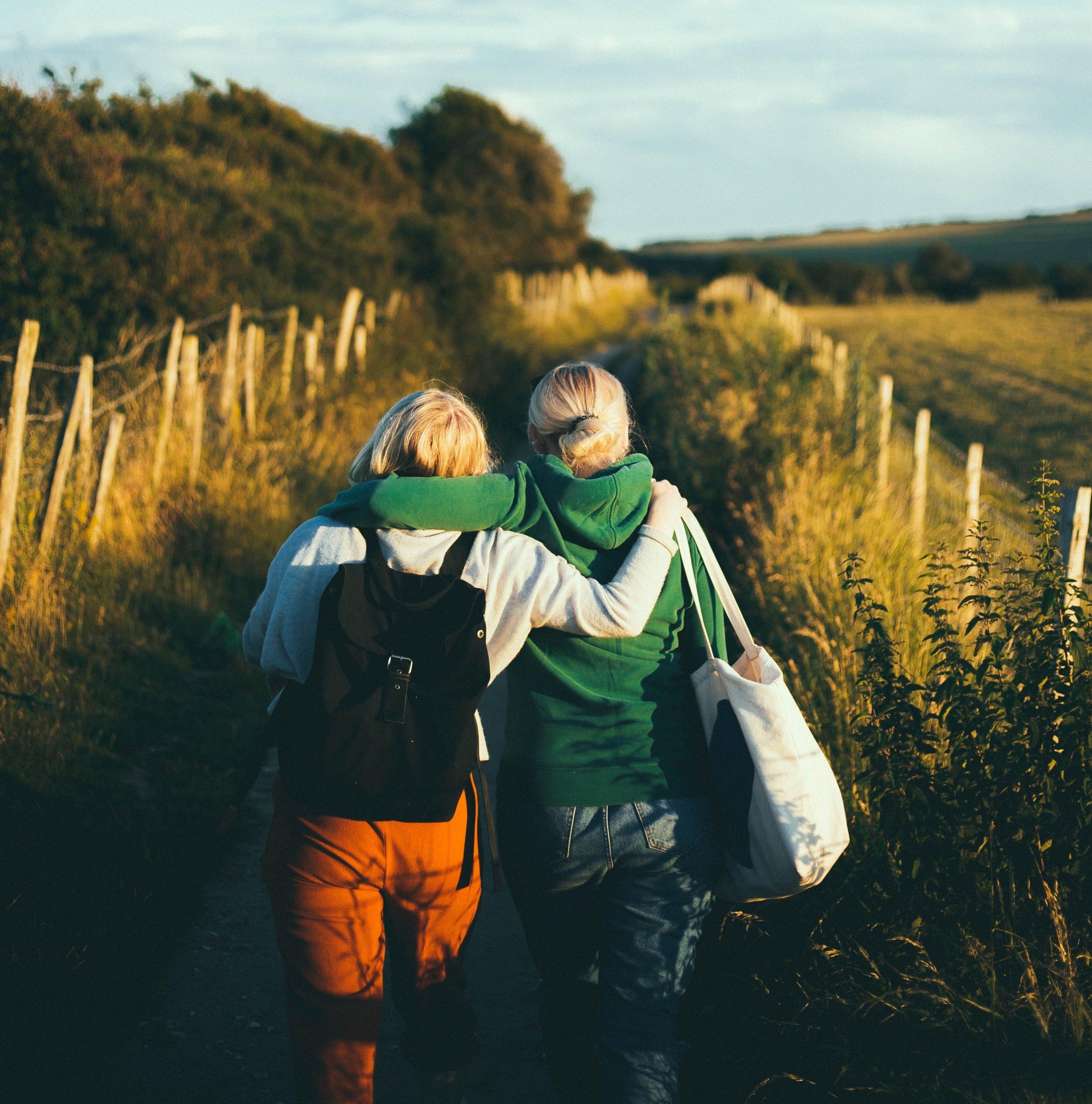 Friends walkingtogether